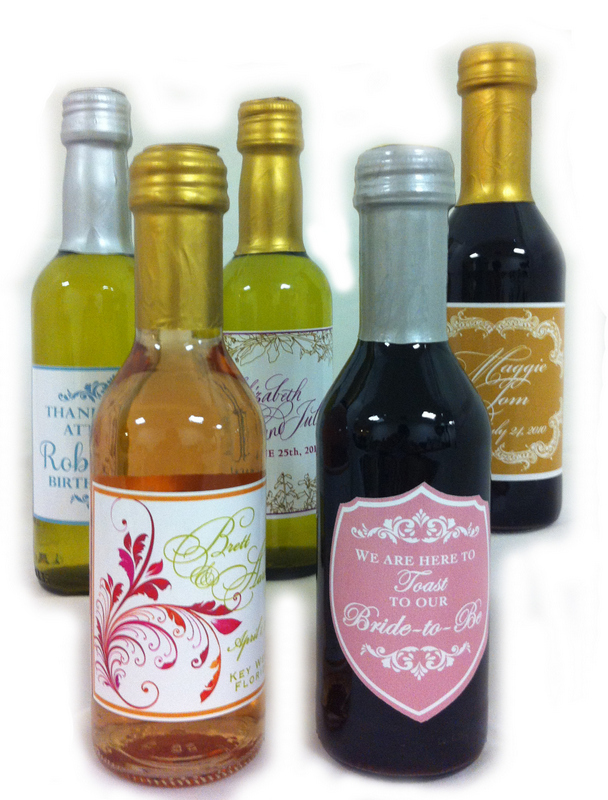 Personalized Wine and Champagne Bottles