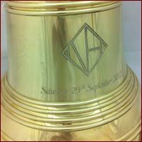 Engraved Wedding Bell