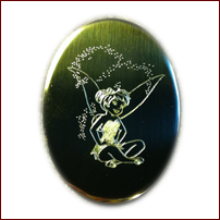 Creative unique personalized gifts los angeles baby wedding engraved custom artwork tinkerbell negle Choice Image