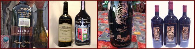 Los Angeles Engraved Wine Bottles