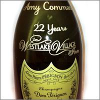Engraved Dom Perignon Champagne