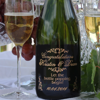 Engraved Moet & Chandon Champagne