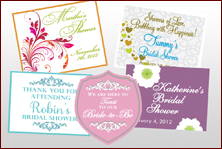 Custom Labels - Wedding Showers