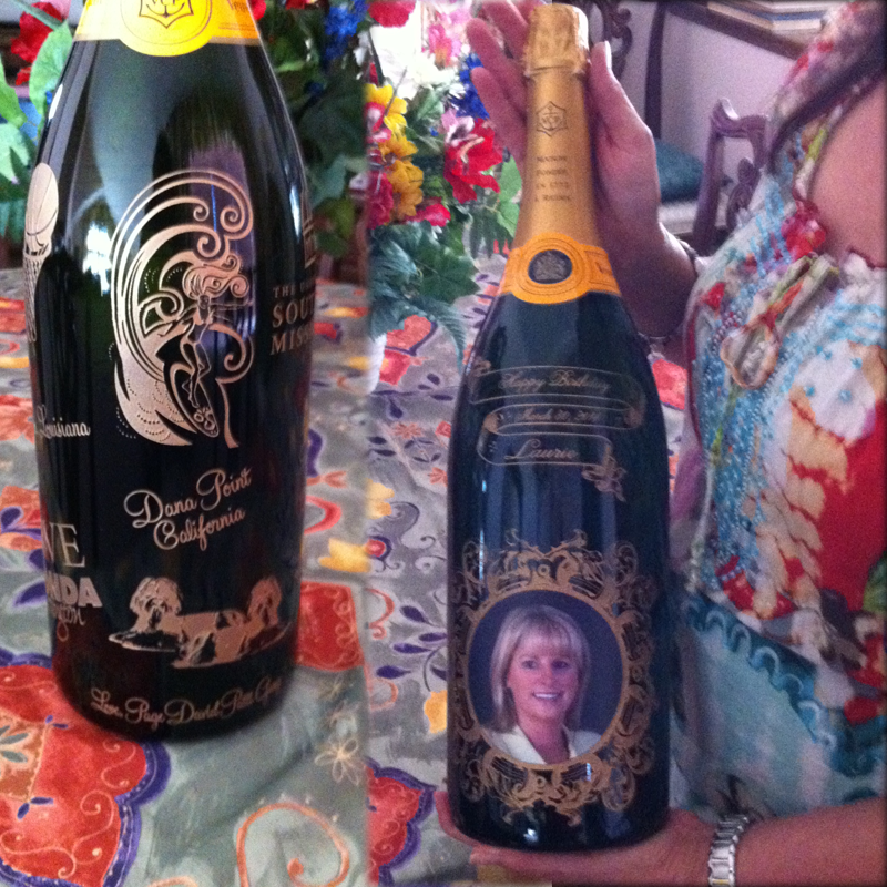 3 Liter Veuve Clicquot Champagne Engraving