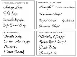Engraved Monograms