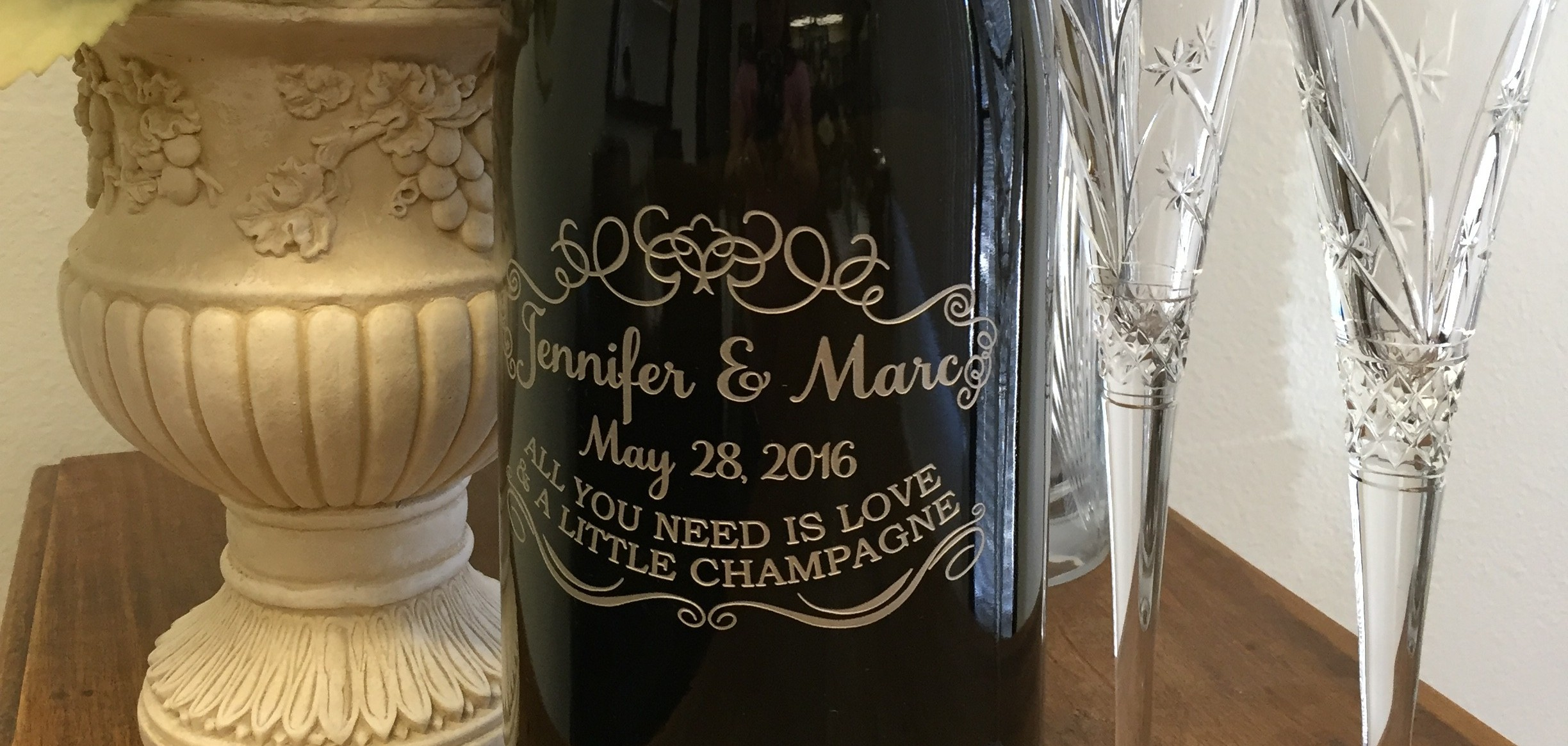 Wedding Guest Book Champagne Bottle